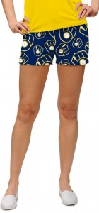 Brewers Retro Navy StretchTech Women's Mini Short MTO