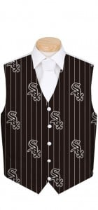 White Sox Pinstripe Men's Vest MTO