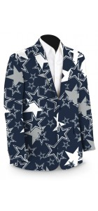 Cowboys Star Navy StretchTech Men's Sport Coat MTO