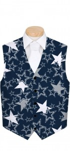 Cowboys Star Navy StretchTech Men's Vest MTO