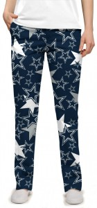 Cowboys Star Navy StretchTech Women's Capri/Pant MTO
