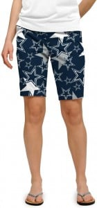 Cowboys Star Navy StretchTech Women's Bermuda Short MTO