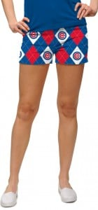 Cubs Argyle StretchTech Women's Mini Short MTO