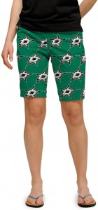 Dallas Stars Green StretchTech Women's Bermuda Short MTO