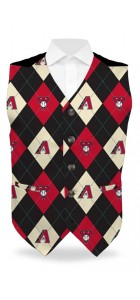 Diamondbacks Argyle StretchTech Men's Vest MTO