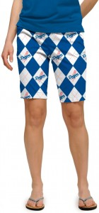 Dodgers Argyle StretchTech Women's Bermuda Short MTO