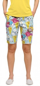 French Poodle Sundae StretchTech Women's Bermuda Short MTO