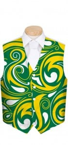 Green & Gold Splash Men's Vest MTO