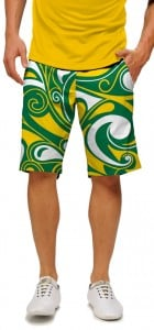 Green & Gold Splash Men's Short MTO