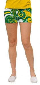 Green & Gold Splash Women's Mini Short MTO