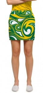 Green & Gold Splash Women's Skort/Skirt MTO