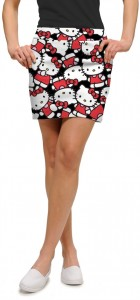 Hello Kitty Celebration Black Women's Skort/Skirt MTO