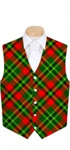 Holiday Tartan StretchTech Men's Vest MTO