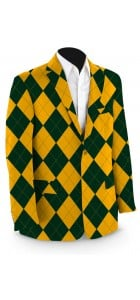Hunter Green & Gold Mega Men's Sport Coat MTO