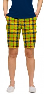 Margarita Plaid StretchTech Women's Bermuda Short MTO