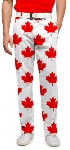 Canada Maple Leaf White StretchTech Men's Pant MTO