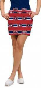 Montreal Canadiens Jersey Stripe StretchTech Women's Skort/Skirt MTO