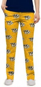 Nashville Predators Yellow StretchTech Women's Capri/Pant MTO