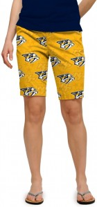 Nashville Predators Yellow StretchTech Women's Bermuda Short MTO