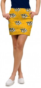 Nashville Predators Yellow StretchTech Women's Skort/Skirt MTO