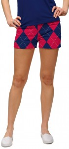 Navy & Red Mega StretchTech Women's Mini Short MTO