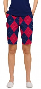 Navy & Red Mega StretchTech Women's Bermuda Short MTO
