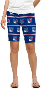 New York Rangers Jersey Stripe StretchTech Women's Bermuda Short MTO