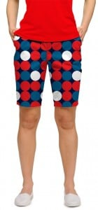 Disco Balls Red StretchTech Women's Bermuda Short MTO