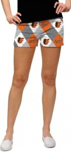 Orioles Argyle Gray StretchTech Women's Mini Short MTO