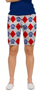 Pabst Blue Ribbon Gray Women's Bermuda Short MTO