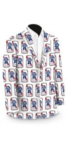 Pabst Blue Ribbon Cans Men's Sport Coat MTO