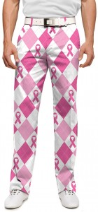 Pink Ribbon Argyle StretchTech Men's Pant MTO