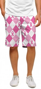 Pink Ribbon Argyle StretchTech Men's Short MTO