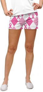 Pink Ribbon Argyle StretchTech Women's Mini Short MTO
