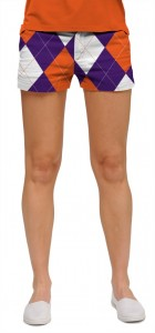 Purple & Orange Argyle StretchTech Women's Mini Short MTO