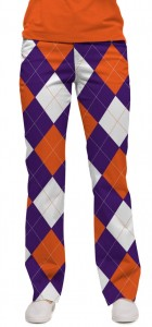 Purple & Orange Argyle StretchTech Women's Capri/Pant MTO
