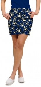 Brewers Retro Navy StretchTech Women's Skort/Skirt MTO