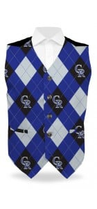 Rockies Argyle StretchTech Men's Vest MTO