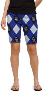 Rockies Argyle StretchTech Women's Bermuda Short MTO
