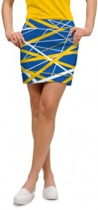 Stix Blue & Gold StretchTech Women's Skort/Skirt MTO