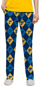St. Louis Blues Argyle StretchTech Women's Capri/Pant MTO