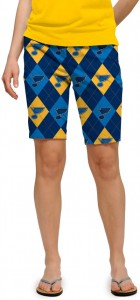 St. Louis Blues Argyle StretchTech Women's Bermuda Short MTO