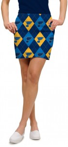 St. Louis Blues Argyle StretchTech Women's Skort/Skirt MTO