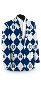 Detroit Tigers Argyle Men's Sport Coat MTO