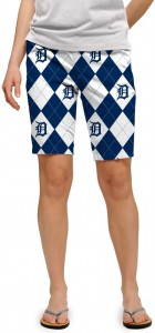 Detroit Tigers Argyle Women's Bermuda Short MTO