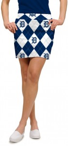 Detroit Tigers Argyle Women's Skort/Skirt MTO