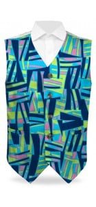 Tiki Bar Blue Men's Vest MTO