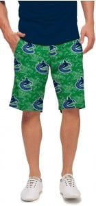 Vancouver Johnny Canuck Green StretchTech Men's Short