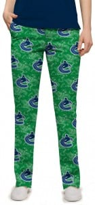 Vancouver Johnny Canuck Green StretchTech Women's Capri/Pant MTO