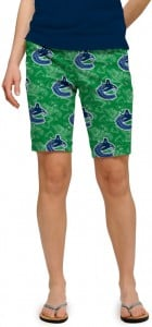 Vancouver Johnny Canuck Green StretchTech Women's Bermuda Short MTO